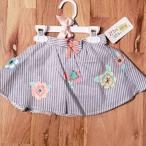 NWT Baby Starters Circle Skirt w/ Flowers